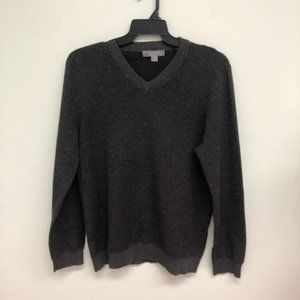 CloudVeil   Men's V-Neck Sweater   Grey